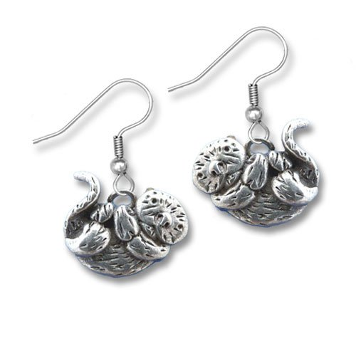 Pewter Sea Otter Earrings by The Magic Zoo (Otter Costume)
