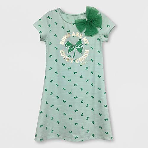 (Girls Jojo Siwa St. Patrick's Day Lucky Charm Dress - Mint Green (Large)
