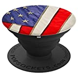 USA Flag Patriot Eagle Nation Veteran Military Statue Of Li - PopSockets Grip and Stand for Phones and Tablets