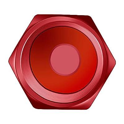 MENOLY Tire Valve Caps (20 Pack) Heavy-Duty Stem Covers (Dustproof, O Rubber Seal, Aluminum Alloy, Hexagon Design) - Red: Automotive