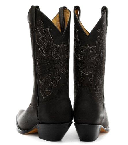 Grinders Buffalo Schwarz Herren Cowboy Stiefel