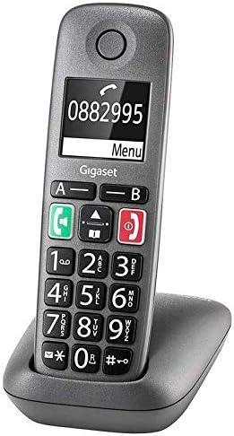 Gigaset Easy – DECT-Telefon schnurlos zum Besten von Router – Fritzbox, Speedport kompatibel – hörgerätekompatibel, anthrazit-grau