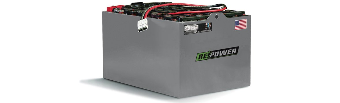 Repower 6-85-13 Forklift Battery with Cover