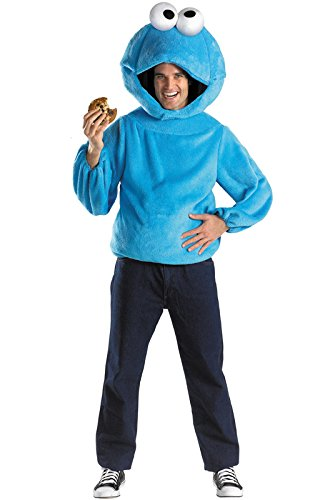 Monster Adult Costumes (Cookie Monster Adult Costume Size X-Large (42-46) Blue)