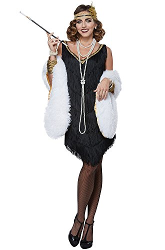 California Costumes Women's Fabulous Flapper Adult Woman Costume, Black/White, Small]()