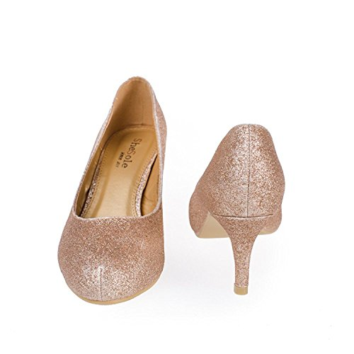 Glitter SheSole fille Gold Compensées SheSole Sandales femme Sandales wFBqpxw