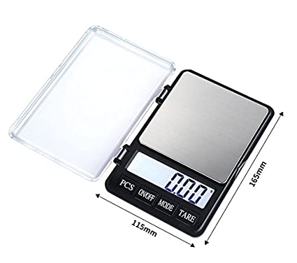 Escala de joyería electrónica de alta precisión de 0,01 g, escala de mini quilates, bolsillo portátil, escala de té y oro para un peso cómodo: Amazon.es: ...