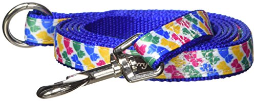 """Blueberry Pet Durable Iconic Multicolor Pup Statement Dog Leash 5 ft x 5/8"""", Small, Leashes for Dogs"""