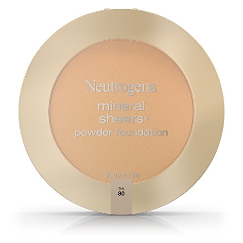 Neutrogena Mineral Sheers Compact Powder Foundation Spf 20, Tan 80,.34 Oz. (Pack of 2) Create Sheer Loose Powder