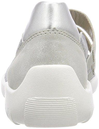 R3505 Femme Remonte Grey Pazifik Silver Gris Silber Pazifik 14 Silver Ballerines BqwPw