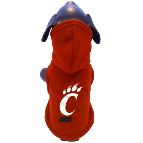 - All Star Dogs NCAA Cincinnati Bearcats Polar Fleece Hooded Dog Sweatshirt, XX-Small