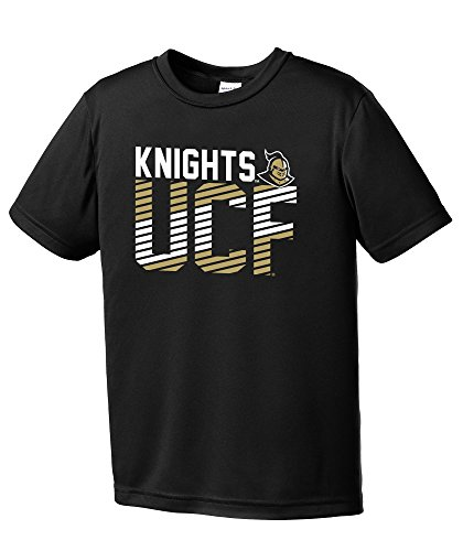 NCAA Central Florida Golden Knights Youth Boys Diagonal Short sleeve Polyester Competitor T-Shirt, Youth Small,Black - Central Florida Baseball