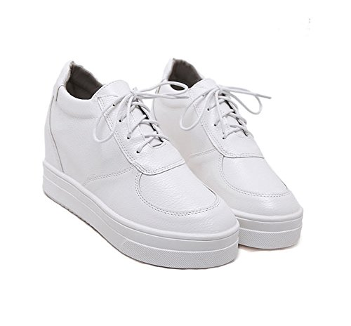 Ladola Resistant Up White Slip Shoes Toe Urethane Walking Lace Womens Closed rxqfPw4r
