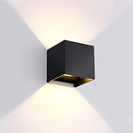 Up Down Led Wall Lamp Sconce Indoor Outdoor Wall Light Fixture Modern Wall Mount Light For Living Room Bedroom Hallway Conservatory Home Room Decor Adjustable Dimming Angle Black Shell Warm Light