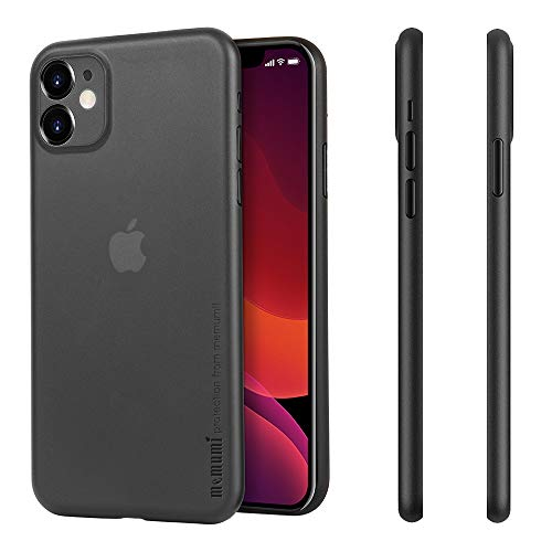memumi Ultra Slim Case for iPhone 11, Minimal Design Matte Finish Coating Thin Fit for iPhone 11 2019 Phone Case with Fingerprint Resistant and Scratch Resistant (Matte Translucent Black)