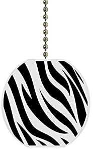 Zebra Print Animal Skin Ceramic Fan Pull