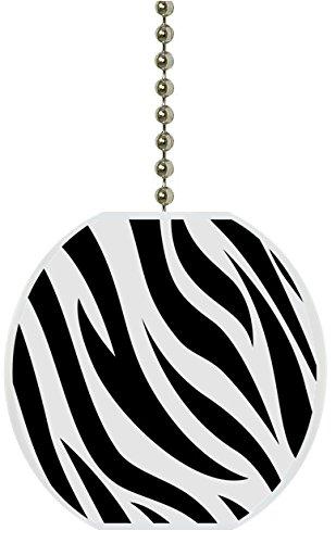 Zebra Print Animal Skin Ceramic Fan Pull Food Industry Mag