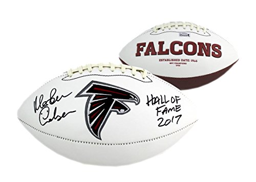 Atlanta Falcons Hall Of Fame - Morten Andersen Signed Atlanta Falcons NFL Embroidered Football with