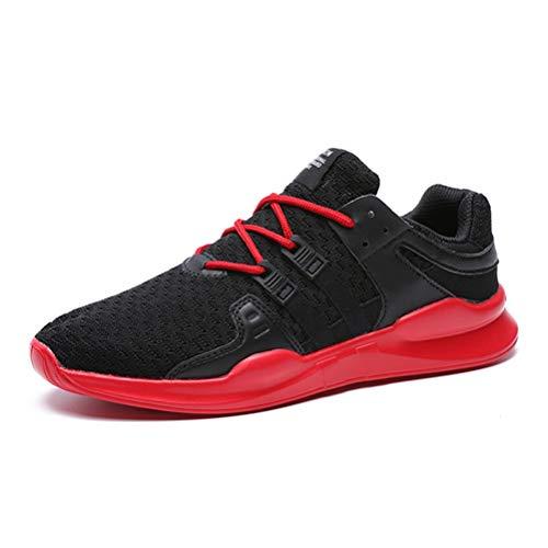 Athlétique Hommes Course Respirant Noir Plein Air Entraîneur Rouge Chaussures Sneakers Sport Mâle En Cushioning De 4rtxrvq