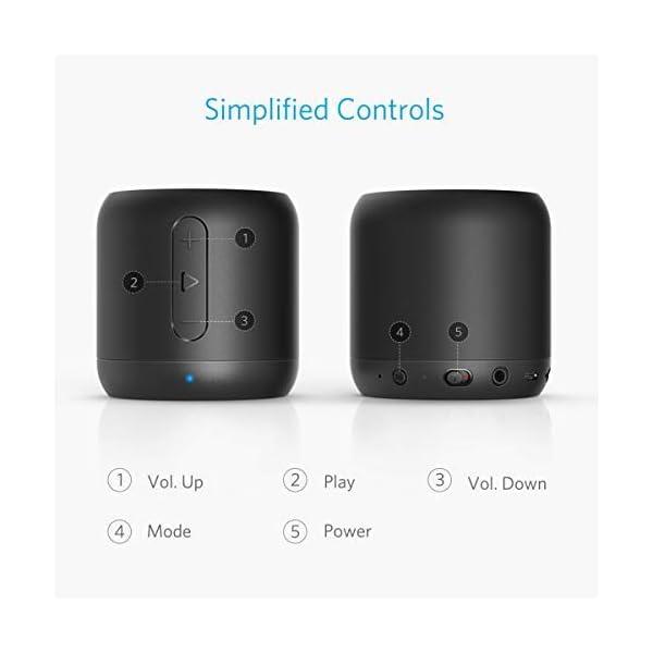 Anker SoundCore mini Enceinte Bluetooth Portable - Haut Parleur avec Autonomie de 15 Heures, Portée Bluetooth de 20 Mètres, Port Micro SD, Micro et Basses Renforcées 7