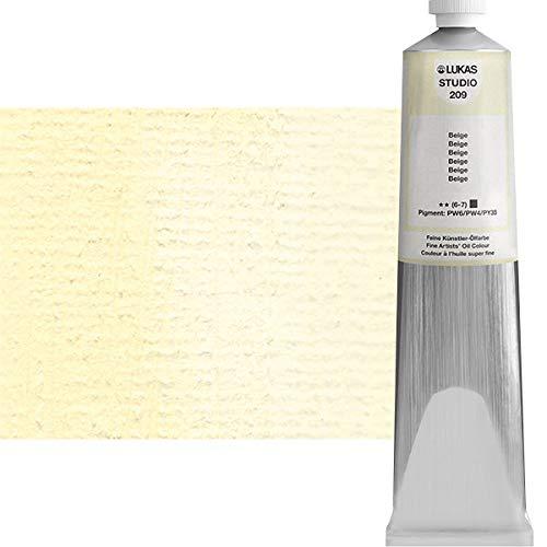 LUKAS Studio Professional Oil Color Paint High Pigment Professional Artist Paint - 200 ml Tube - Beige