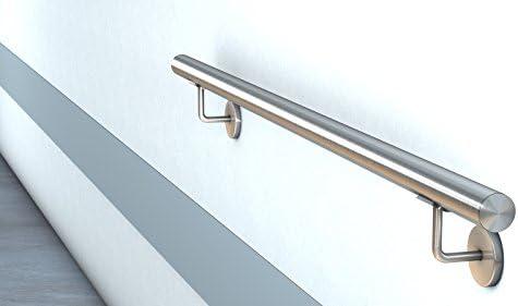 Pasamanos de acero inoxidable V2 A montado pasamanos barandillas Escaleras Mango ø42,4 X 2 con Klip srosette: Amazon.es: Bricolaje y herramientas