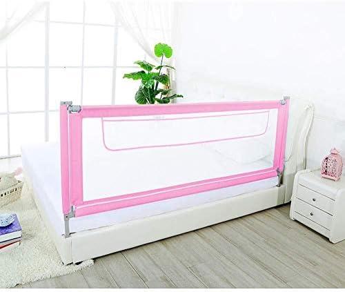 子供のためのベッドレールはツインベッドダブルクイーンとキングサイズのベッドに適し、ベッドレールバンパー、複数の色を折るとベッド手すりのサイズ (Color : Pink, Size : 1.9m)
