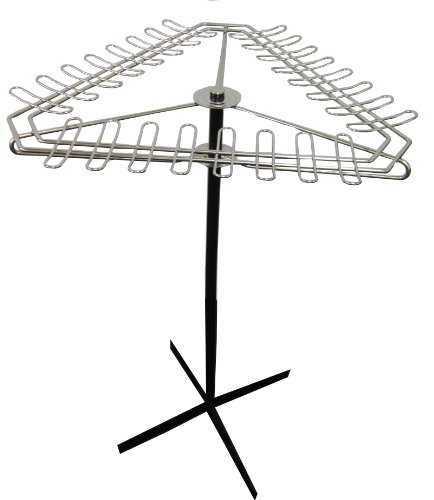 Markwort Revolving Chrome Wire Bat Display Rack by Markwort
