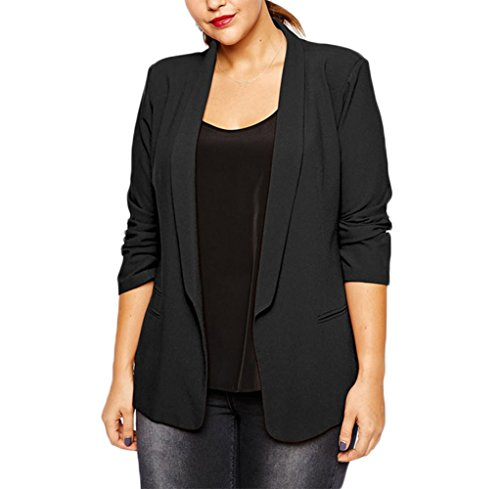 Womens Work Office Casual Open Blazer suit Plus Size 14 16 18 20