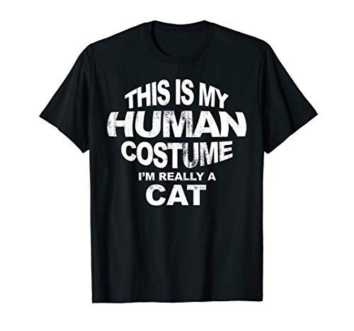 This Is My Human Costume Shirt Christmas Cat Pajama Tee -