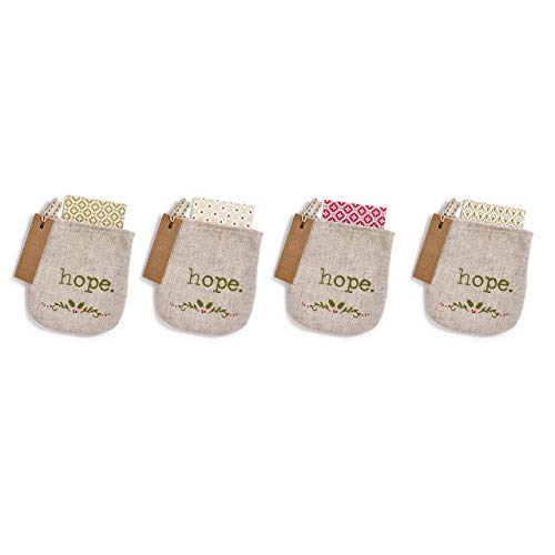 Filigree Christmas Cards - Redrock Traditions Sharing Hope Notes 4.5 inch Burlap Ornament Bags and Notecard Set