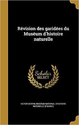 Book Révision des garidées du Muséum d'histoire naturelle