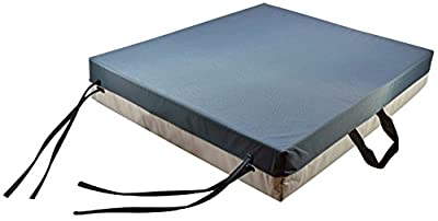 Secure Gel Foam Flotation Cushion with Safety Ties and Carry Handle - For Wheelchairs And Chairs