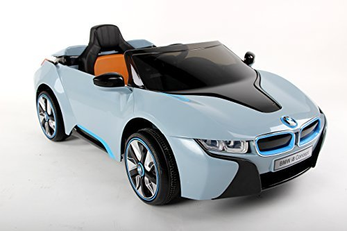 New 2015 Model Official Licensed BMW i8 Concept Twin Powered Rechargeable Electric Ride on Kids Car With Parental Remote Control(Blue) by toyzz