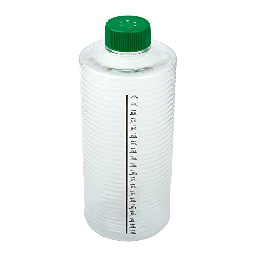 (Celltreat 229387 1900cm² ESRB Roller Bottle, Tissue Culture Treated, Printed Graduations, Vented Cap, Sterile (case of 12))
