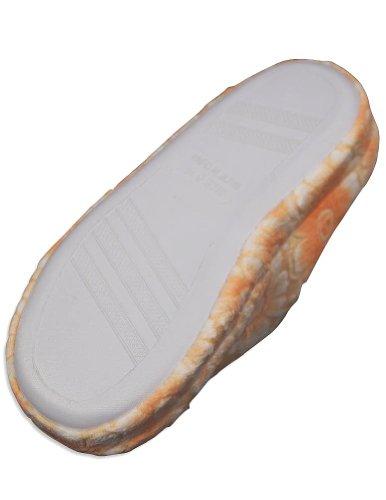 Gold Toe - Mujer Zueco Zapatilla Naranja