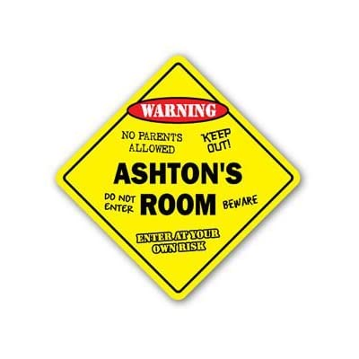 ASHTON'S ROOM Sticker Sign kids bedroom decor door children's name boy girl gift - Sticker Graphic Personalized Custom Sticker Graphic: Automotive