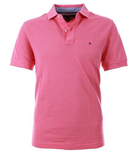 Tommy Hilfiger Herren Polo Poloshirt slim fit pink Stretch Größe XXL