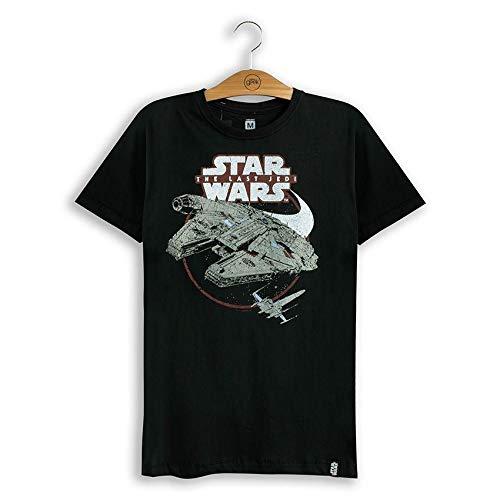 Camiseta Star Wars Viii Millennium & X-Wing