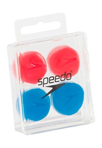 (Speedo Silicone Ear Plugs, Blue/Orange, One Size)