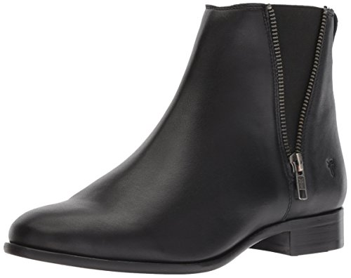 (FRYE Women's Carly Zip Chelsea Boot, Black Full Grain Leather, 10 M US)