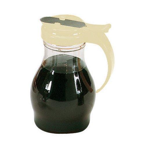 (Vollrath 1414 Dripcut Syrup Dispensers - 16 oz, Almond Color Plastic Top )
