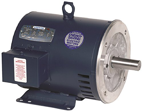 Leeson 132082.00 General Purpose Drip-Proof C Face Motor, 3 Phase, 184TC Frame, Rigid Mounting, 5HP, 1800 RPM, 208-230/460V Voltage, 60/50Hz Fequency