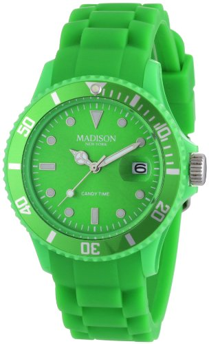 Madison Candy - Madison Candy Time Green Dial Green Silicone Unisex Watch U4167-10-2