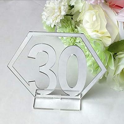The world first – Suministros de boda 20 x 21 – 40 hexágono número ...