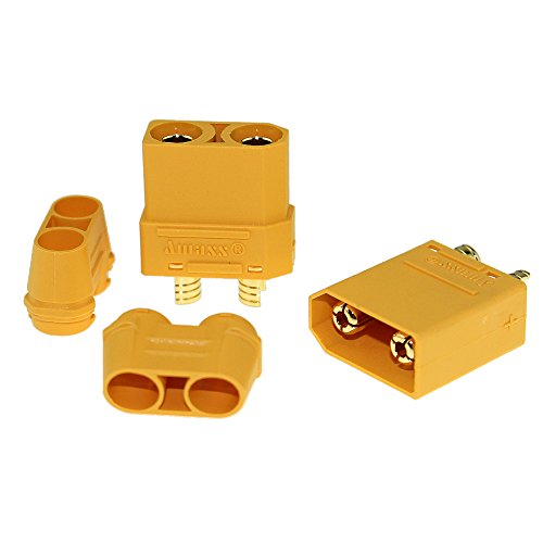 Amass 10 Pair XT90 XT-90 Male Female Bullet Connectors Power Plugs with  Heat Shrink for RC Lipo Battery Motor