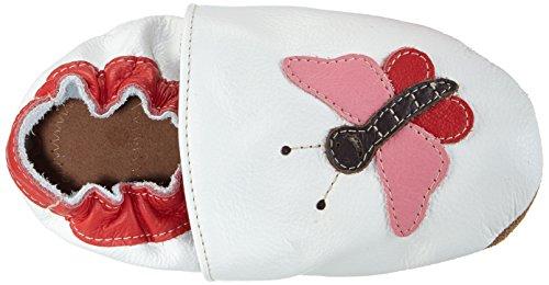 "HOBEA-Germany Lauflernschuhe Schmetterling ""Pauline"" - Pantuflas para bebés Blanco (Blanco)"