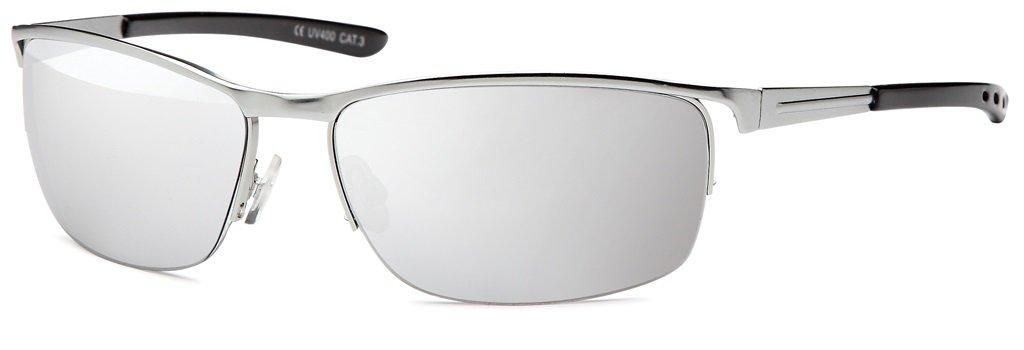High Quality Herren Sonnenbrille mit Federscharnier Sunglasses Sportbrille Matrix Rad Brille Radbrille Sport (Ice) lvRMad