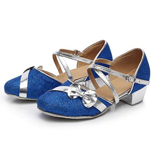 Chaussures Bleu Princesse Danse Sandales Pratique Elecenty Enfants À Paillettes Enfant Talon Avec De Chaussure Fille Ballerine Ceremonie appOc18WP