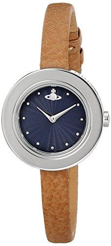 Vivienne Westwood Women's VV097NVTN Edge Analog Display Swiss Quartz Brown Watch